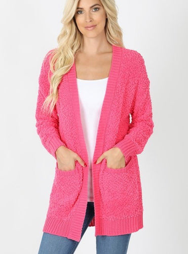 Northview Cardigan Hot Pink