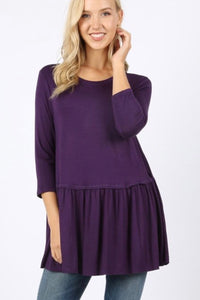 Relaxed Ruffle Plum