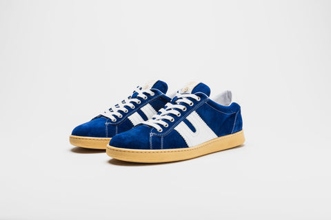 Pantofola d'Oro Open Leather-Trimmed Suede Sneakers