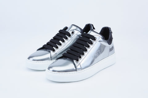 Pantofola d'Oro Court Classic Women's Leather Sneaker in Silver