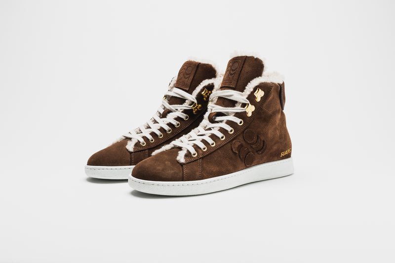 Pantofola d'Oro Suarez Sheepskin High-Top Sneakers
