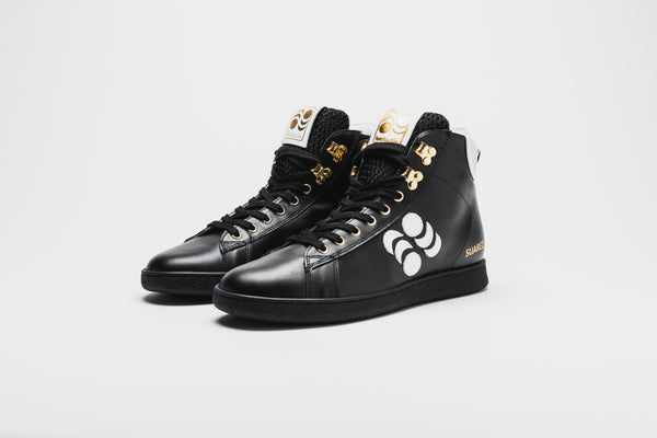 Suarez Leather High-Top Sneakers