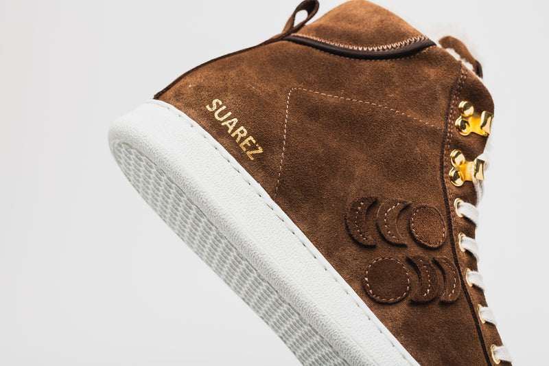 SUAREZ SHEEPSKIN HIGH-TOP SNEAKER