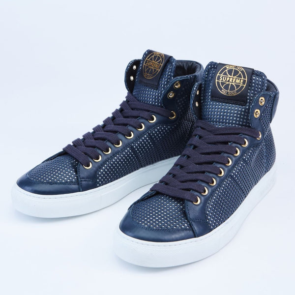 Top Spin High-Top Leather Sneakers