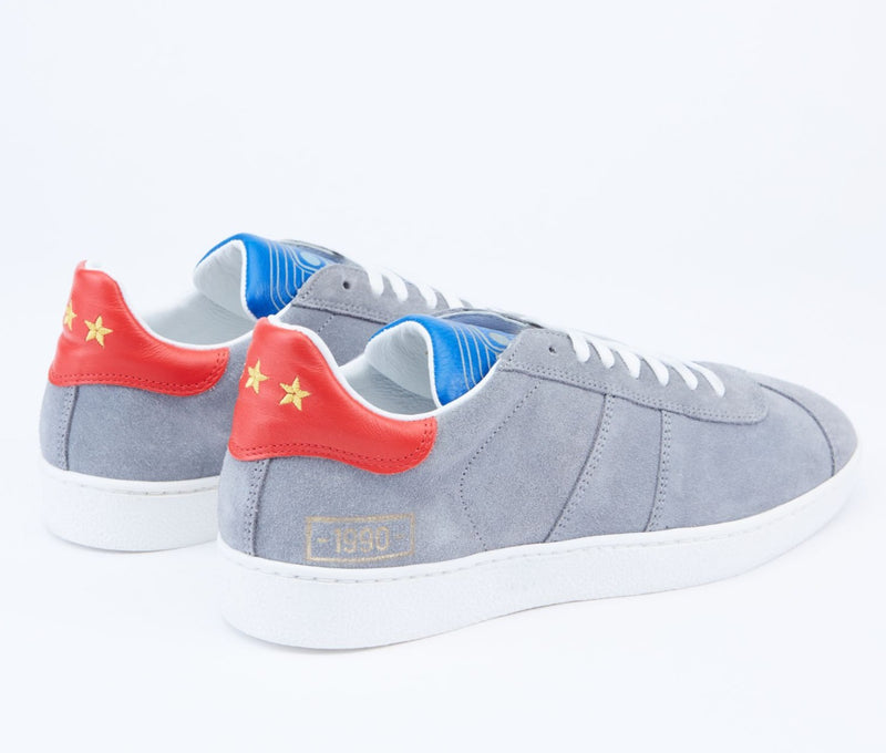 1990 Leather-Trimmed Suede Sneakers
