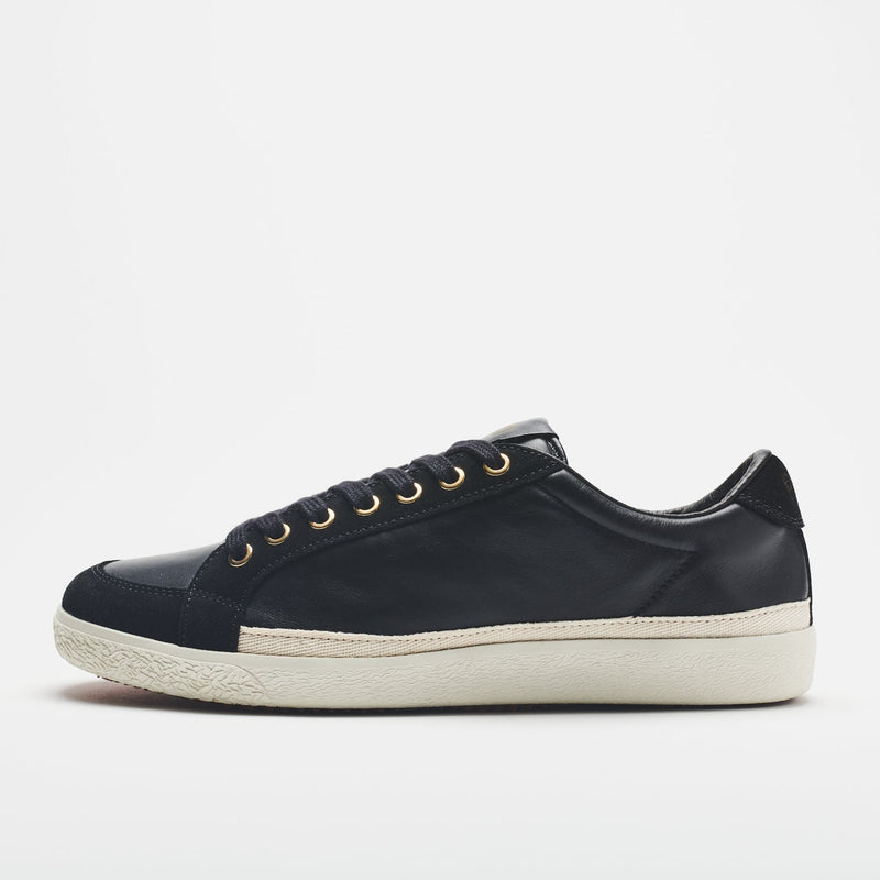 Pantofola d'Oro Gold Suede-Trimmed Leather Sneakers