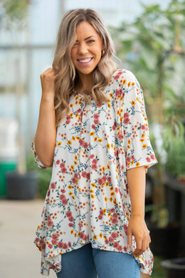 Spring Blossoms Short Sleeve Top