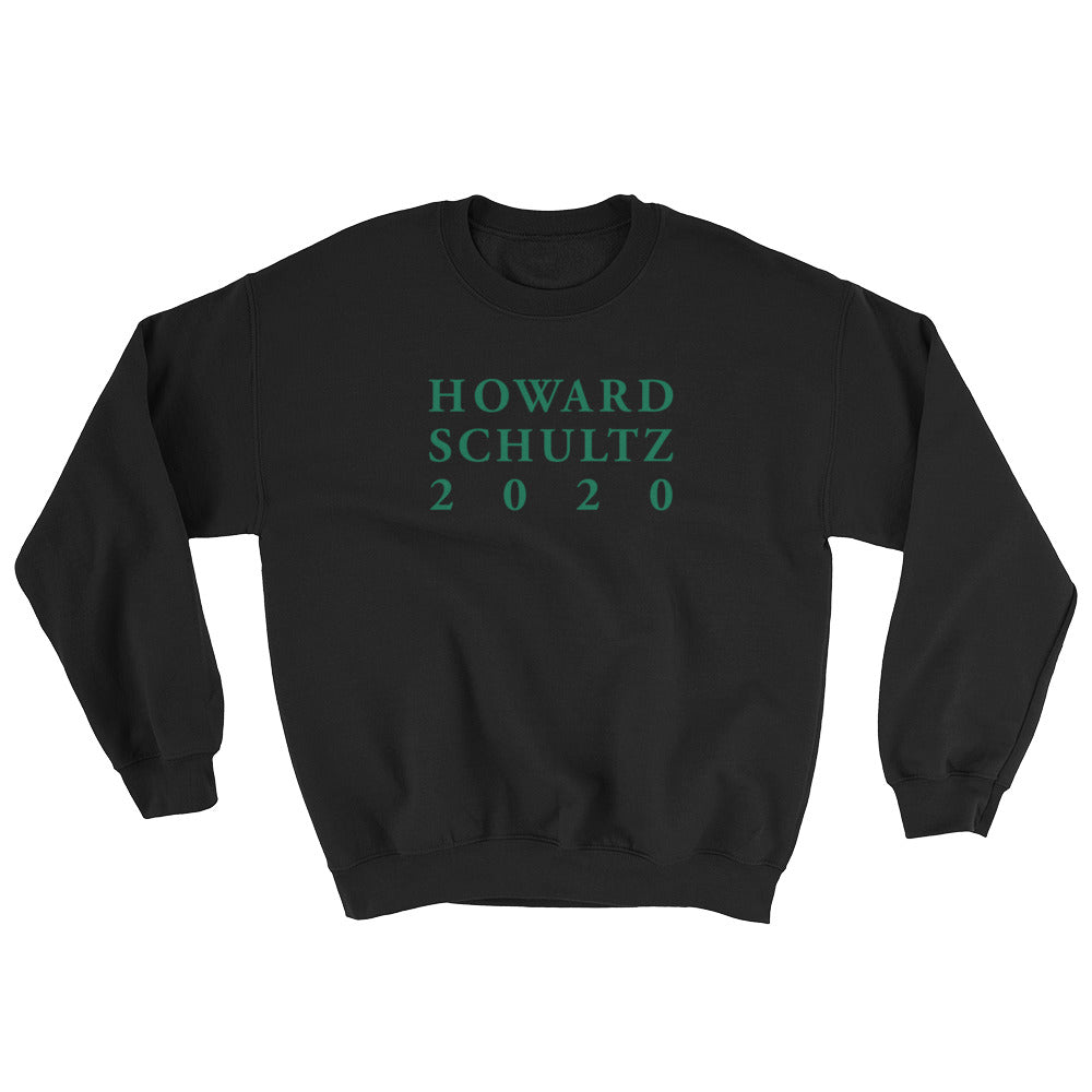 Howard Schultz 2020 Lettering Design in Green on a Black Pullover