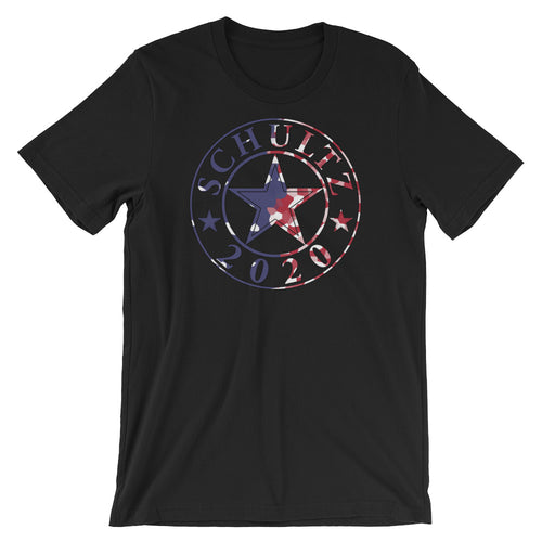 Red White and Blue Howard Schultz for President 2020 support black and grey t-shirt tshirt tee merchandise, goods and clothing