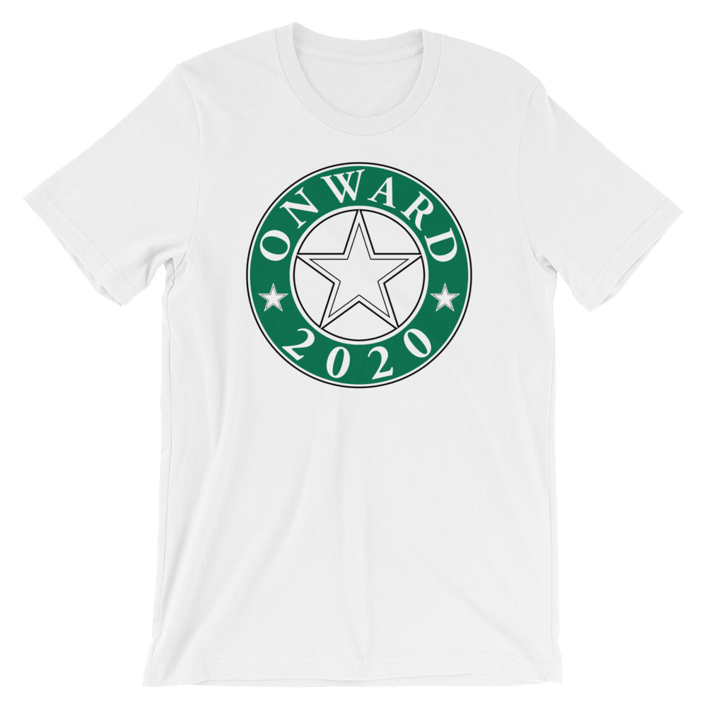 Onward2020 Design on a White T Shirt