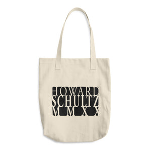 Howard Schultz MMXX Black Print on a Classic Cotton Canvas Tote Bag