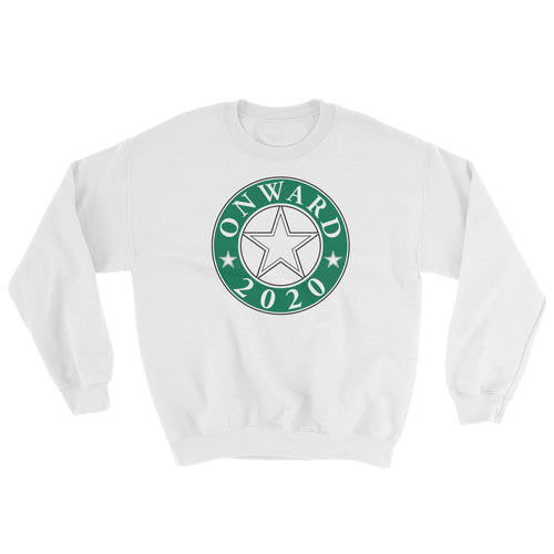 Onward2020 Design in Green on a White Pullover