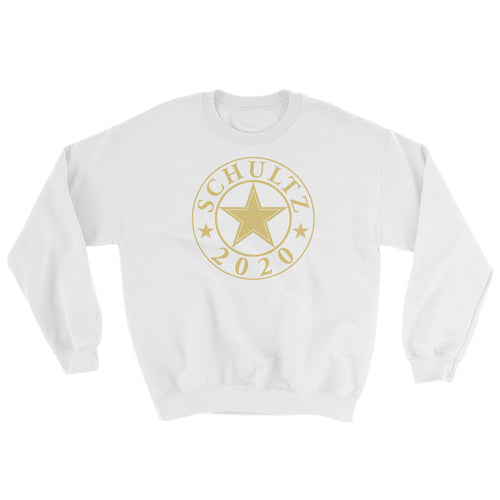Schultz 2020 Design in GOLD on a White Pullover