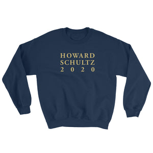 Howard Schultz Lettering Design in GOLD on a Black, Navy, or White Pullover