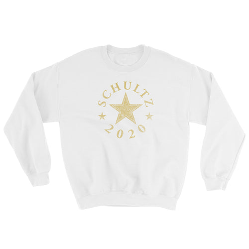 Howard Schultz 2020 for president sweatshirt hoodie white with gold star design