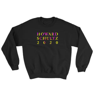Howard Schultz 2020 High Quality Lettering Print in Color on a Black Cotton Pullover Sweatshirt