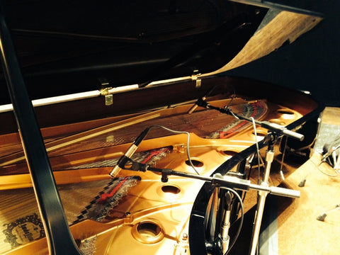 3 Zigma SD-C and SD-H Microphones on Concert Grand Yamaha on Jazz at Lincoln Center Tour.