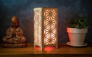 Goma Asanoha Collage Tall Table Lamp