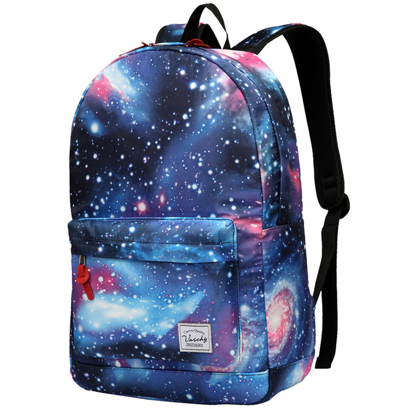 VASCHY Teen Girls Fashion Floral Backpack for Middle School Fits 15inch Laptop Galaxy