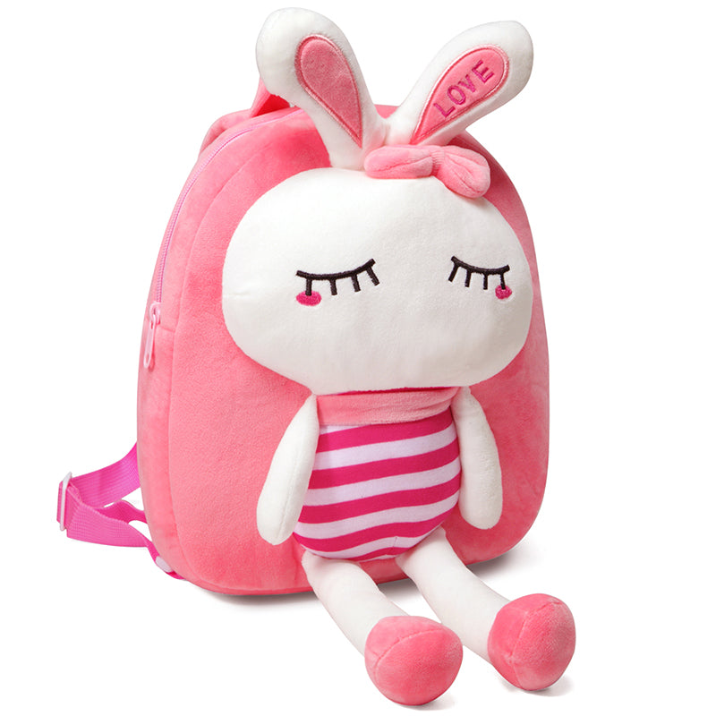 VASCHY 3D Cute Kids Plush Backpack Toddler Daypack Preschool Boys and Girls Unicorn Bag with Chest Strap