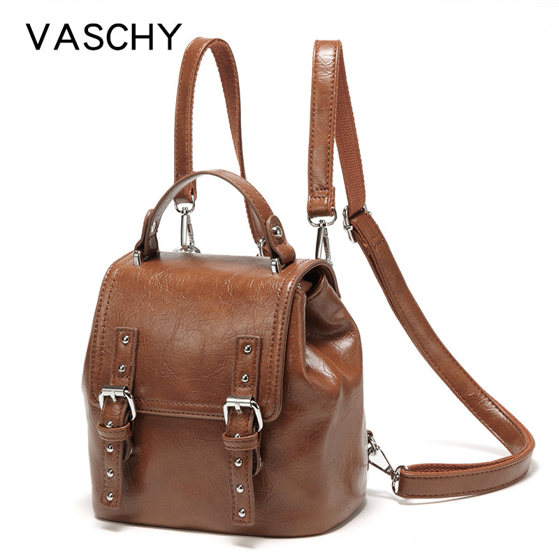 VASCHY 3 Ways Backpack Purse for Women Convertible Fashion Backpack Shoulder Bags Travel School Bag for Teenage Girls