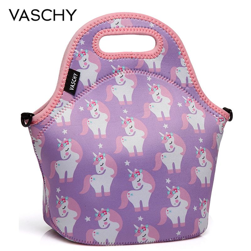 VASCHY Unicorn Print Lunch Bag