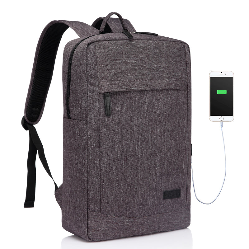 VASCHY 17 inch Business Laptop Backpack Gray
