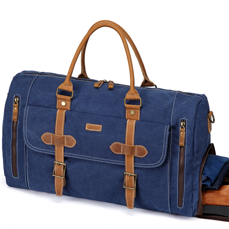 VASCHY Blue Travel Baggage Bags