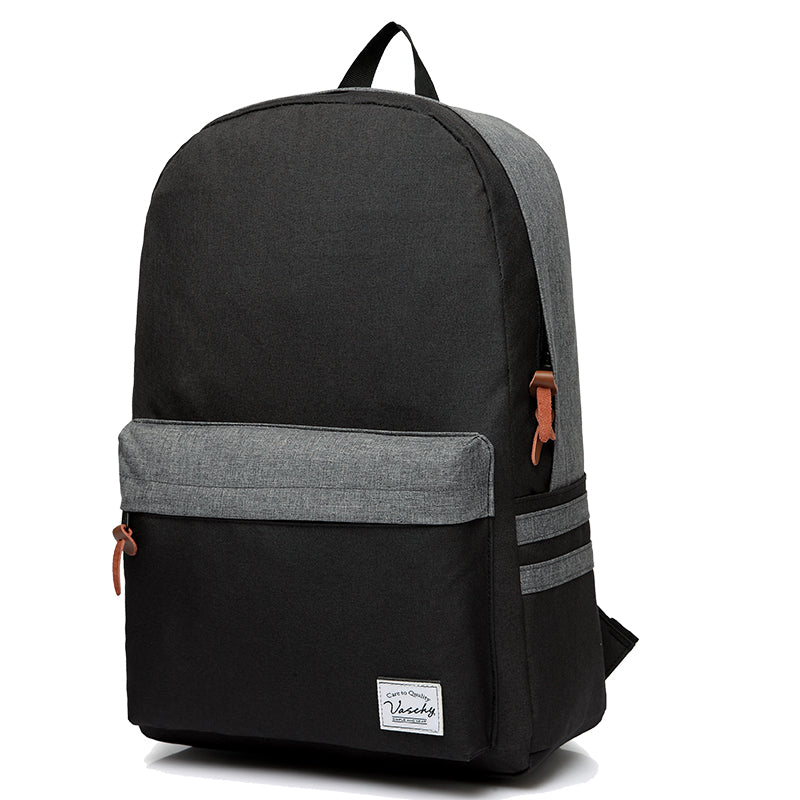 Vaschy Water Resistant School Backpack for Teens Lightweight Fashion Bookbag Rucksack Fits 15inch Laptop