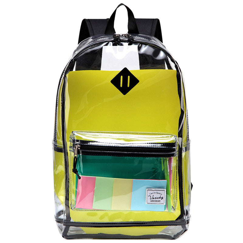 86093c150cbc VASCHY Clear Backpack Heavy Duty Transparent See Through Stadium Appro