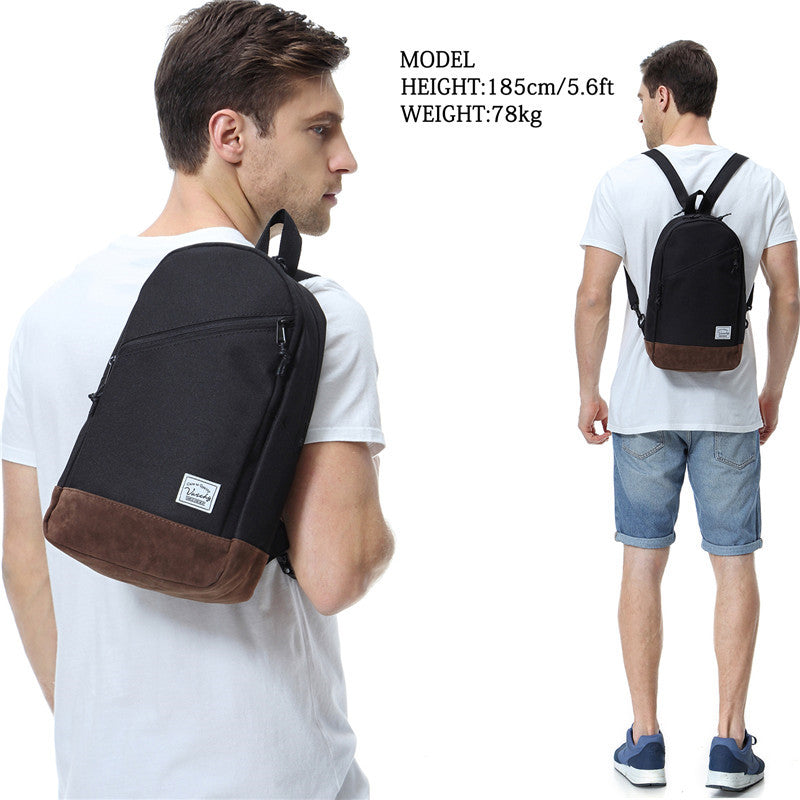 VASCHY Mini Crossbody Sling Backpack Two Ways to Carry with Adjustable Convertible Chest Strap