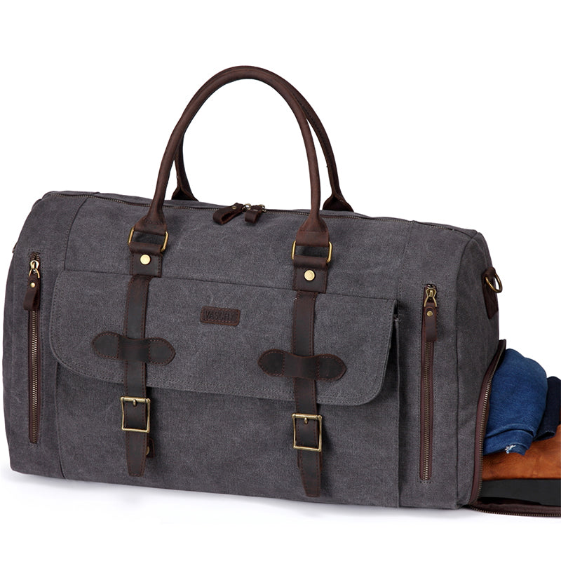 VASCHY Gray Travel Baggage Bags