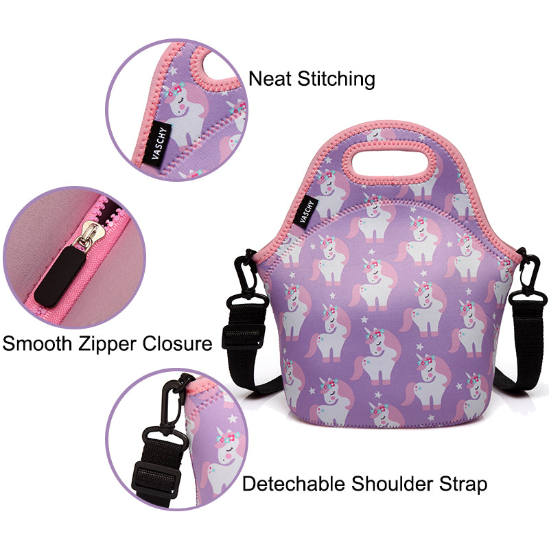 VASCHY Portable Lunch Bag with Straps