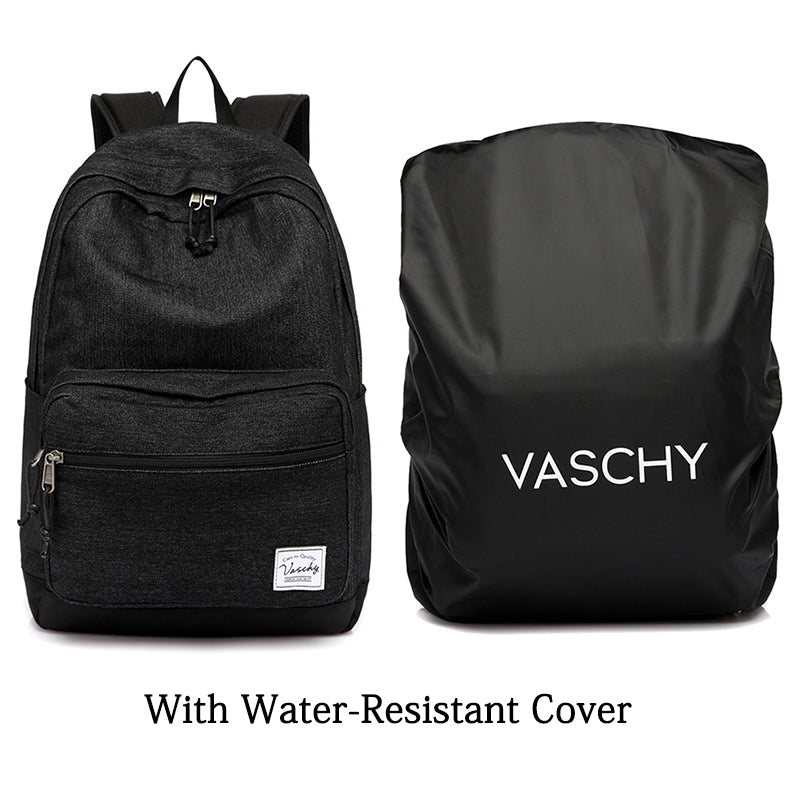 Vaschy Unisex Denim High School Backpack Fits 15inch Laptop Travel Backpack