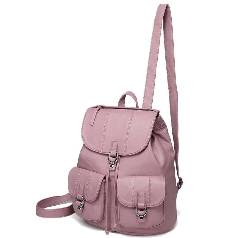 140d58d9a VASCHY Faux Leather Fashion Mini Backpack Purse for Women, Buckle Flap
