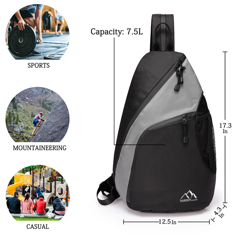 VASCHY Mini Cross-body Sling Backpack Water Resistant Chest Bag for Sports for Hiking