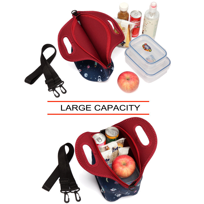 VASCHY Large Capacity Neoprene Lunch Bag