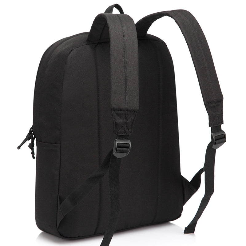 VASCHY Lightweight School Backpack for Unisex Student, Classic Basic Water Resistant Casual Daypack for Travel with Bottle Side Pockets