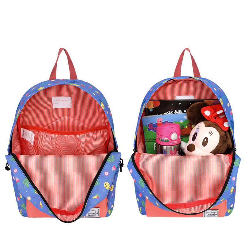 VASCHY Preschool Backpack for Kindergarten Little Girls with Chest Strap Cute Fruits