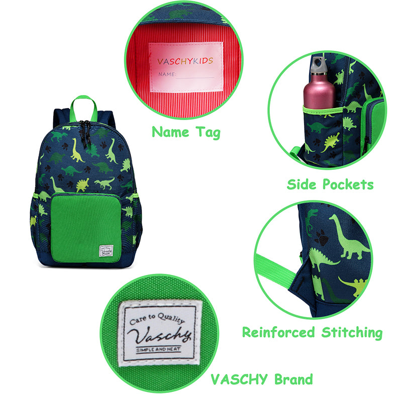 VASCHY Cute Lightweight Kids Backpack Water Resistant Preschool Backpack for Boys and Girls with Chest Strap