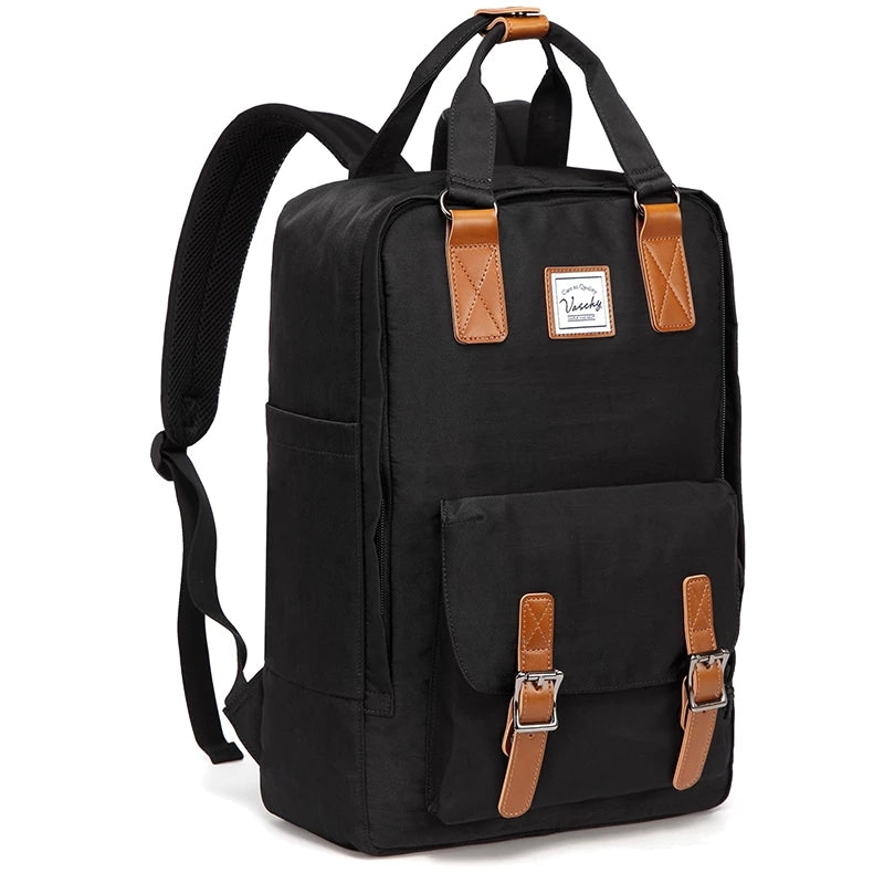 e5c707e5997 VASCHY Vintage Backpack for Men and Women Casual Water-resistant Schoo