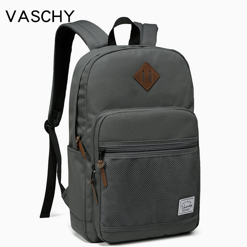 """Grey School Backpack fit 15.6""""Lightweight Casual Daypack Water Repellent"""
