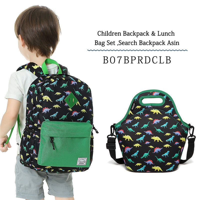 VASCHY Preschool Backpack for Kindergarten Little Boys with Chest Strap Cute Dinosaur