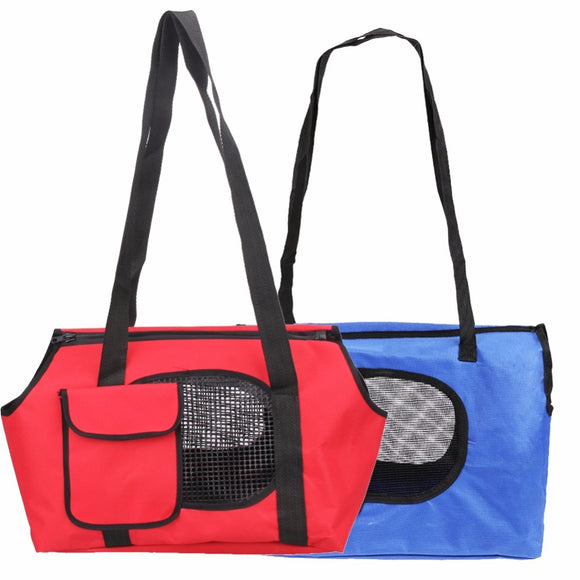 Pet Dogs Bag Spring Summer Breathable Pet Carriers For Small Dogs Pet Bag Dog Cats Oxford + PE Board Bag Blue Red E5M1