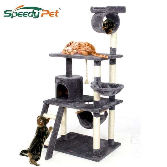 2018 Pet Cat Climbing Frame  Animal Puppy Multi-layer Cat Tree Cat Scratch PAWZ Road Cat Tree Board Condo Luxury Furniture