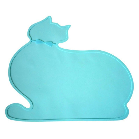 1pcs Silicone Pet Pads Supplies Pet Dog Puppy Cat Feeding Mat Pad PVC Bed Dish Bowl Food Water Feed Placemat