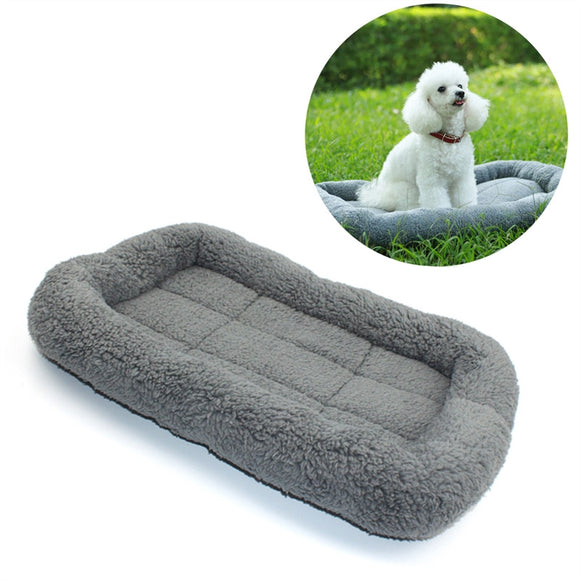 Pet Dog Beds Gray Warm Soft Blanket for Small Medium Pet Cat Sleeping Mat Mattress Cushion
