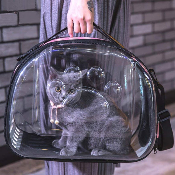 Transparent Pet Carrier Travel Bag for Small Dogs and Cats Foldable Pet Travel Kennel Portable Cave