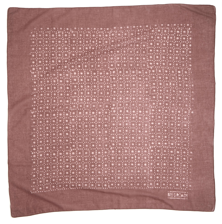 circle center-soft cocoa berry <> hand block printed bandana