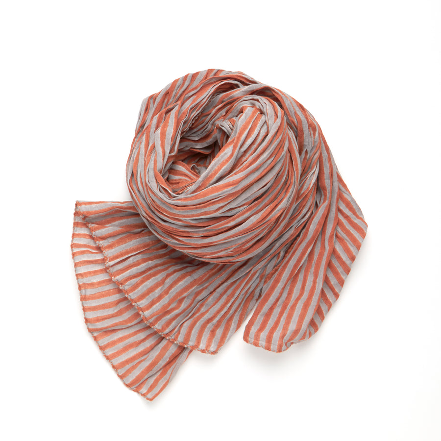 COTE SUD STRIPE-APRICOT DOVE GRAY